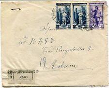1951 Italia al Lavoro RACCOMANDATA Fabbriche Riun. FRAGD San Martino Siccomario