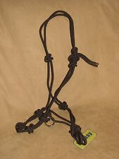 Rope Horse Halter Professional Training 4 Knot Side Pull Rings BROWN New Tack