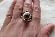 QVC Modernist 925 Sterling Silver Planished Ball Triple Split Band Ring Sz R