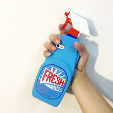 New 3D Fresh Spray Cleaner Bottle Soft Silicone Case Cover For iPhone5/5S/SE