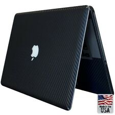 Black Carbon Fiber Decal Sticker Skin Case Cover For Apple MacBook Pro 13""