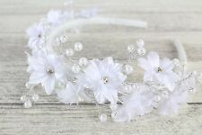 Wedding Bridesmaid Communion Hair Accessories Pearl Alice Band Headband