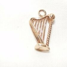 VINTAGE 9CT 9 CARAT 9K GOLD ROSE GOLD IRISH HARP CHARM 2.2 GRAMS LONDON HALLMARK