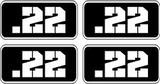 """4 - .22 Ammo Can Decal 4 PACK 3""""x1.5"""" Molon Labe 22 Bullet Vinyl Sticker RCTNGL"""