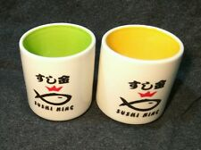 SUSHI KING Japanese Tea Cups (2). Year 2008