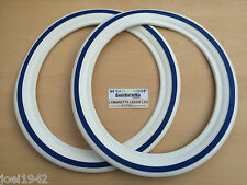 WHITEWALL TYRE INSERTS & BLUESTRIPE  . 10 INCH.LAMBRETTA GP-LI-SX-TV SCOOTERS.