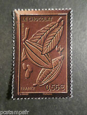 FRANCE 2009, timbre 4357, CHOCOLAT, CABOSSE ET FEVES neuf**, MNH STAMP CHOCOLATE