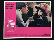 MY FAIR LADY original AUDREY HEPBURN lobby card REX HARRISON Musical VF 7