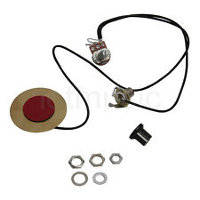 Piezo Contact Microphone Pickup Transducer for Guitar 1 Potentiometer 1 Jack