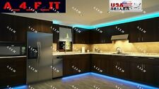4pcs Kitchen Under Cabinet Counter LED Light Bar Kit Multi Color Energy Saving