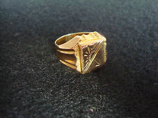 Herren Siegel Ring Massiv Gold 585 / 14  Rotgold