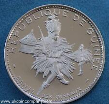 1969 Guinea Silver Proof 500 Francs Coin African Dancer Scarce Coin