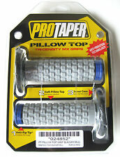 Pro Taper Pillow Top Grey / Blue Twist Throttle Grips YZ WR YZF TE TC FE FC NEW