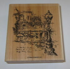 Florence Italy Stampin' Up! Rubber Stamp Travel Sketchbook Streetlight Old World