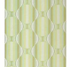 Iconic Vintage Groovin Green 60s 70s Original Geometric Wallpaper - Minimalist