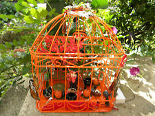 Halloween light up Fairy and Cauldrens Hallows Eve Bird Cage. *Two AA batteries