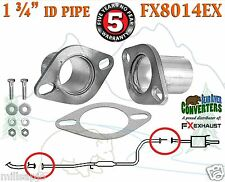 "1 3/4"" ID Universal QuickFix Exhaust Oval Flange Repair Pipe Kit Gasket FX8014EX"