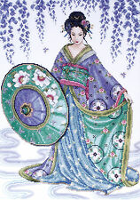 Cross Stitch Kit ~ Design Works Blue Geisha Japanese Lady Kimono #DW2551