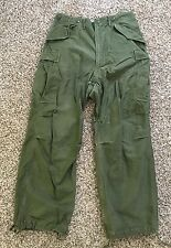 Vintage US Army USMC Korean War Field M-1951 Trousers Cargo Pants Size 34x29.5