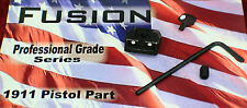 1911 Mil Spec Fixed Screw Down Style White Dot Sight W/ 70s Stake Sight Set
