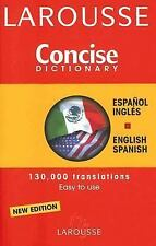 Larousse Concise Spanish-English English-Spanish Dictionary (Larousse -ExLibrary