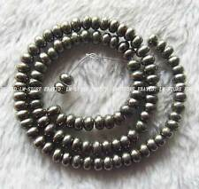 """4x6mm Pyrite Rondelle Beads 15.5"""""""
