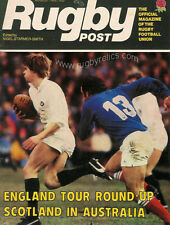 RUGBY POST Aug 1982 ENGLAND MAGAZINE