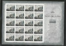 2015 #4952 Imperf The War of 1812 – New Orleans Pane of 20 Without Die Cuts MNH