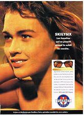 """Publicité Advertising 1991 Les Lunettes Solaires """"Skilynx"""" Vuarnet"""