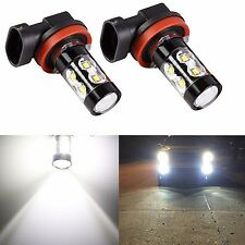 2pcs Car LED Fog Lights Bulbs 50W H11 H8 High Power 6000K Xenon White 2017