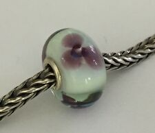 Authentic Trollbeads Murano Glass Antique Flower (B) Bead Charm 61379, New