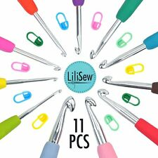 LiLiSew 11 Crochet Hook Set Case with 7,8mm Sizes Crochet Hooks Non-Slip, Soft
