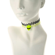 Claire's Girls and Womens 2 Pack Alien Tattoo Choker Necklaces in Black/Green