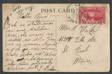 DATED 1913 PPC VINTAGE Q1 1c PARCEL POST ON VALENTINE CARD POSTED