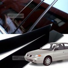 Glossy Black B Pillar Post UV Coating Cover 4Pcs For HYUNDAI 1996-2001 Elantra