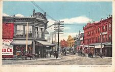 El Paso TX Street View Business Store Fronts Horse & Wagons Postcard