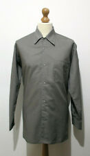 "Vintage Mens 70s Grey Western Shirt LARGE 46"" (44-46) w/ Snap Fasteners"