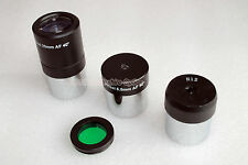 "1.25"" 25mm ,12mm, 6.5mm telescope eyepiece + Moon filter (non standard thread)"