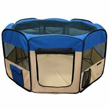 """45"""" Pet Puppy Dog Playpen Exercise Pen Kennel  Oxford Cloth Portable Crate Cat"""