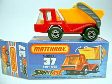 Matchbox SF Nr.37C Skip Truck rot ORANGE Einrichtung & Container top in Box