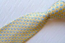 NEW VINEYARD VINES YELLOW blue FISH 100% SILK TIE USA