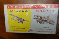 GLENCOE MINIKITS SPIRIT OF ST. LOUIS AND WRIGHT BROTHERS FLIER (NEW IN BOX)