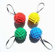 Set of Four Toy Brick Christmas Ball Ornament Building Kits by AbbieDabbles lego
