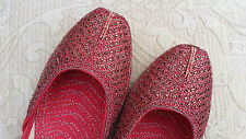 RED LADIES INDIAN WEDDING KHUSSA SHOES   SIZE 8