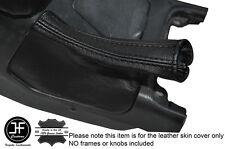 BLACK STITCH LEATHER SKIN HANDBRAKE GAITER FITS TOYOTA JZX90 CHASER 1992-1996