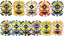 New Bulk Lot 1000 Black Diamond 14g Casino Quality Clay Poker Chips - Pick Chips