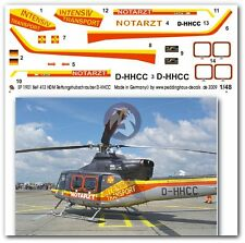 Peddinghaus 1/48 Bell 412HP German Rescue Helicopter Markings D-HHCC HDM 1901