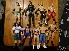 9 WWE Wrestling Action Figures-Undertaker-Baptista-Rated R Superstar-Sena +More-