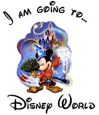 ***I'M GOING TO DISNEY MICKEY MINNIE VACATION****FABRIC/T-SHIRT IRON ON TRANSFER