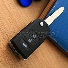 Replacement 3 Button Remote Flip Key Fob Case Shell For  MAZDA 2 5 6 RX8 MX5 3B